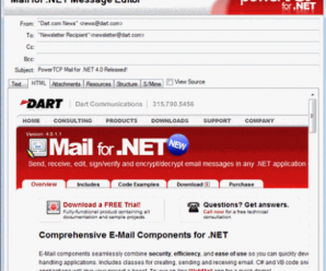 Dart PowerTCP Mail for .NET v4.3.10.0 + Crack