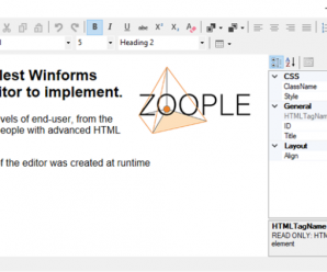 Zoople HTML Editor .NET for Winforms v1.5.1.2 + Licnese Key