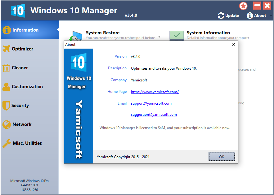 Downoad Yamicsoft Windows 10 Manager v3.4.0 Multilingual Portable Torrent with Crack, Cracked | FTUApps.Dev | Developers' Ground